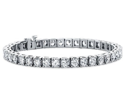 New Design Brass Tennis Bracelet Prong Setting Shape Jewelry With Crystal Zircon