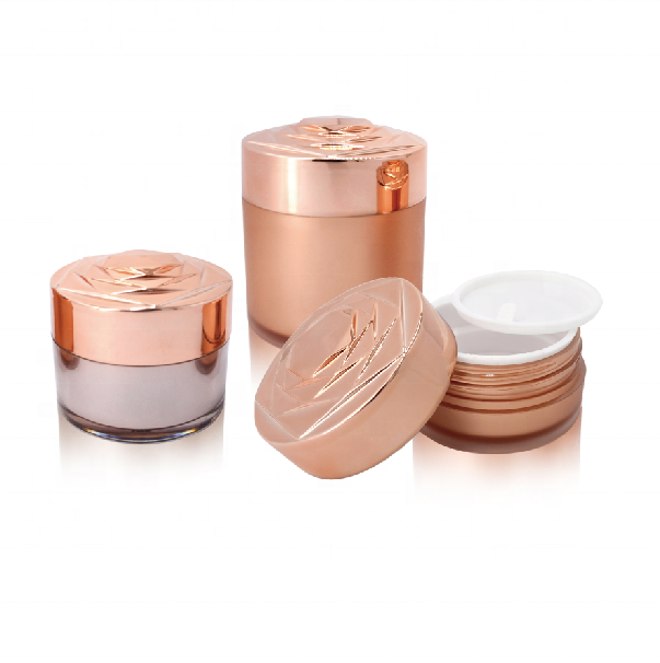 CX-M 15g 30g 50g luxe wit cosmetische acryl jar rose vorm lip lege cream container