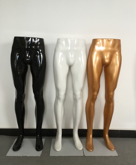 Display plastic mannequin benen