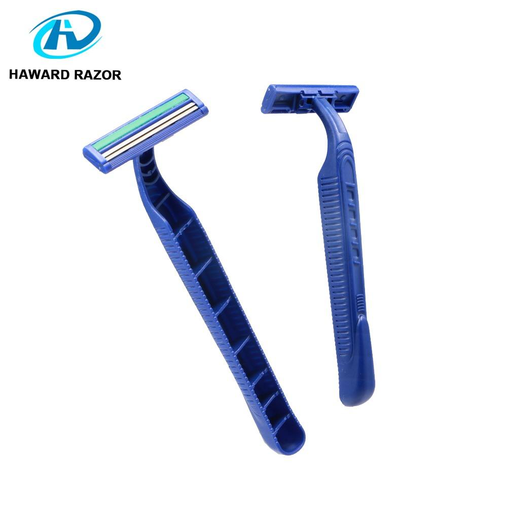 D211L Twin Blade Plastic Disposable Straight Shaving Razor Shaver