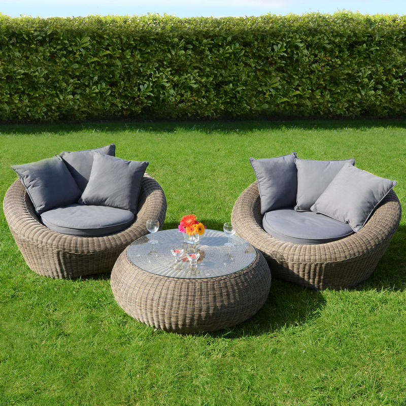 Outdoor furniture luxury 2 seater wicker garden sets Rattan leisure sofa Outdoor Furniture