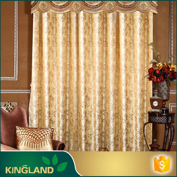 Decoraciones de la boda de alta calidad cortina del telar jacquar