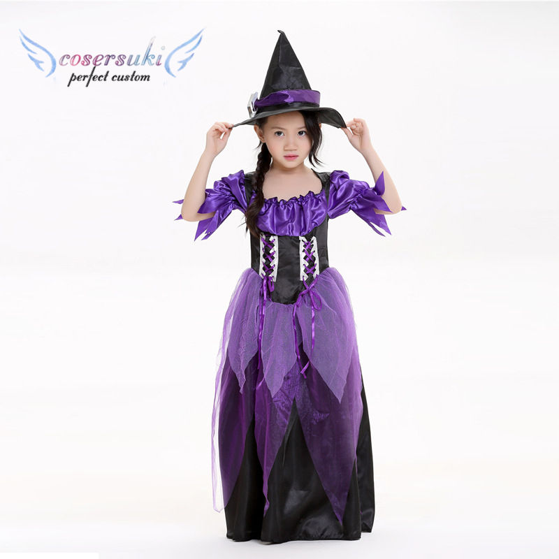 Halloween Children's Witch Costumes Children's Day Cosplay Costume Cosplay Witch Stage Dresses Children's Skirt