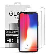 9H Tempered Glass For Iphone X Mobile Screen Protector, Clear Tempered Glass Screen Protector For Iphone x
