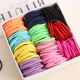 100pcs/lot 3CM Cute Girl Ponytail Hair Holder Thin Elastic Cute Rubber Band Hair Accessories For Kids Colorful Hair Ties
