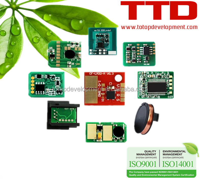 TTD Toner Chip untuk HP Canon Samsung Xerox Ricoh OKI Konica Minolta Kyocera Tajam Model Printer Drum Unit Chip
