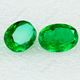Lab created Oval shape synthetic emerald stone price per carat for sale
