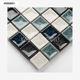 Crackle Square Handmade Glass Azure Mosaic Ceramic Tile