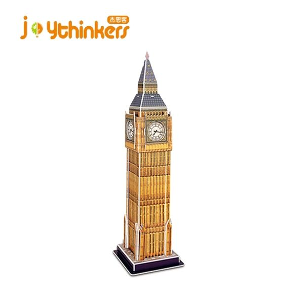 UK World famous architecture Big Ben block toy 3d building model 3d paper puzzle jigsaw puzzle for kids