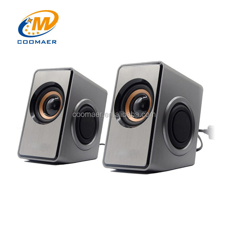 USB Powered 6 W Stereo Portabel Mini Multimedia 2.0 Laptop Komputer Speaker Dengan Subwoofer