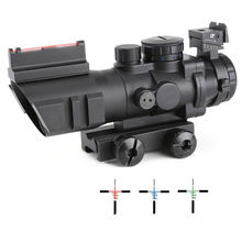 SPINA Tactical Optics 4x32 dual illuminated compact scope with fiber optic sight for hunting