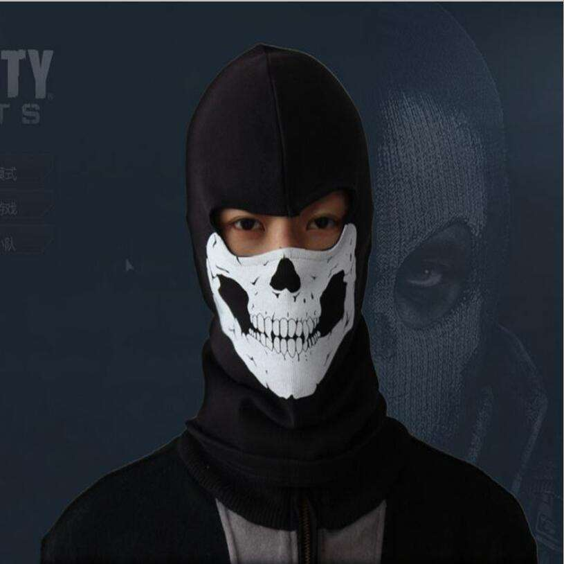 Super Cool Cosplay War Game CS Masks Personalized Cap Hood Breathable Mesh Unisex Hoodies Scarf Tactical Ghost Knight Headgears