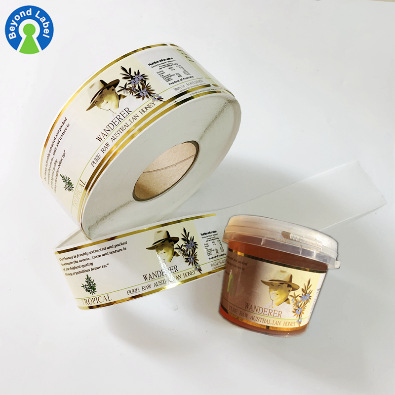 Special Offer Waterproof Removable Adhesive Paper Sticker Honey Labels, Glossy Sticker and Packing By Set