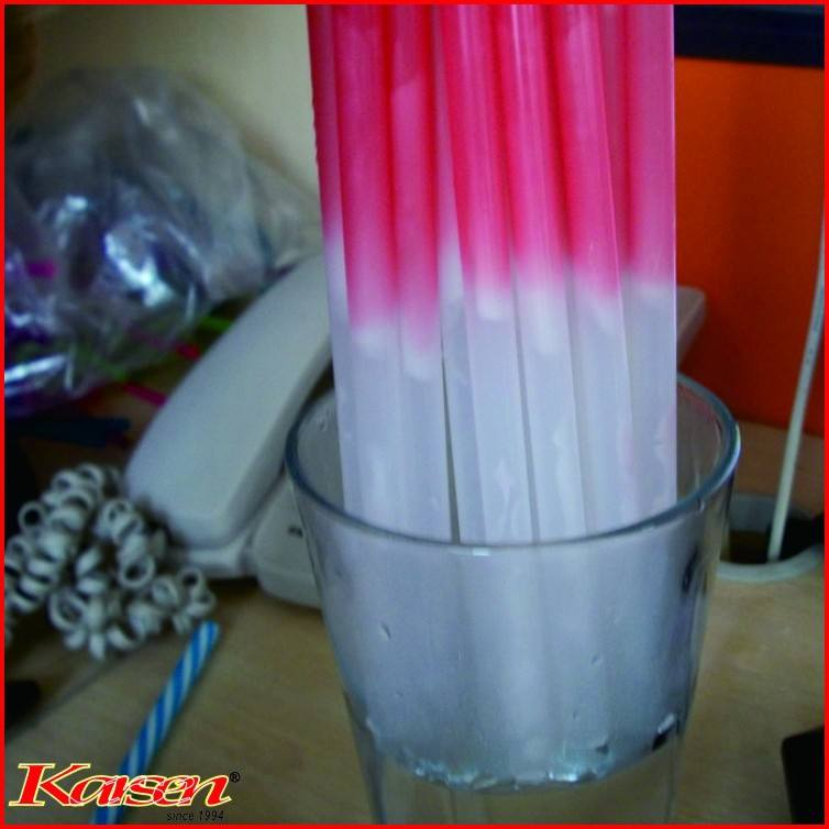 Plastic color change straw drinking straw