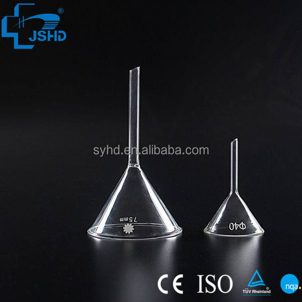 Manufacture lab glassware funnel 60 degree short term