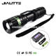 Jialitte F078 Factory Wholesale 18650 Battery and Charger LED Flashlight Kit CREEs XPE Q5 ZoomableTactical Flashlight
