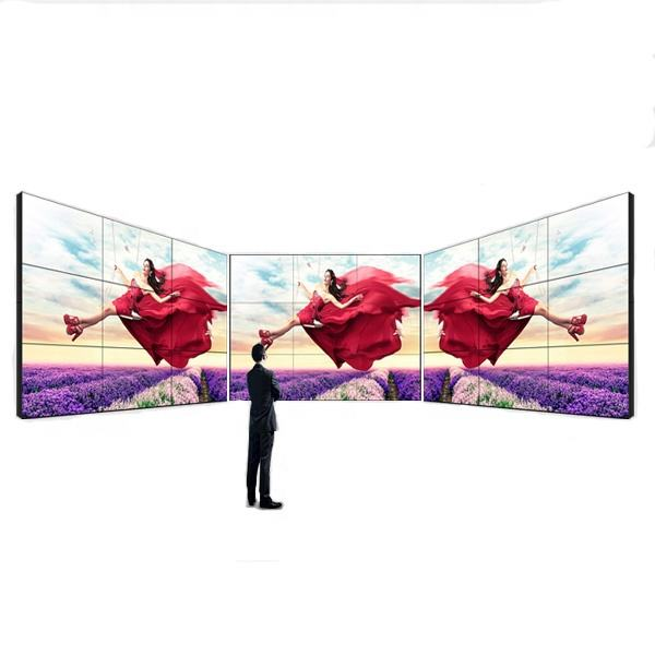 46 inch 500 nits helderheid 3.5mm smalle bezel Industriële DEED LCD video wall mount scherm met controller
