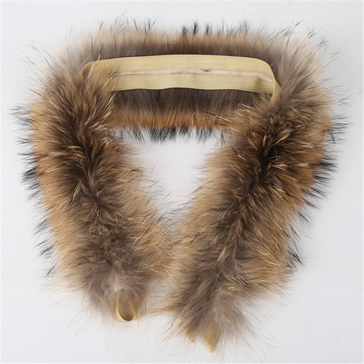 Factory Direct Supply Real Raccoon Fur Trim for Hood Detachable Raccoon Fur Strips