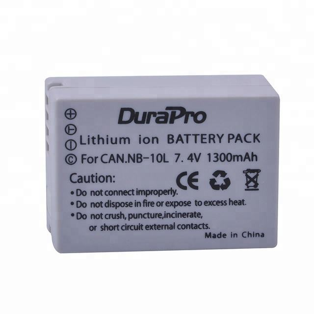 G1X DuraPro Dual USB Charger for Canon NB-10L Canon PowerShot G15 G3X SX40 HS G16 SX40HS SX50 HS SX60 HS Digital Camera Batteries