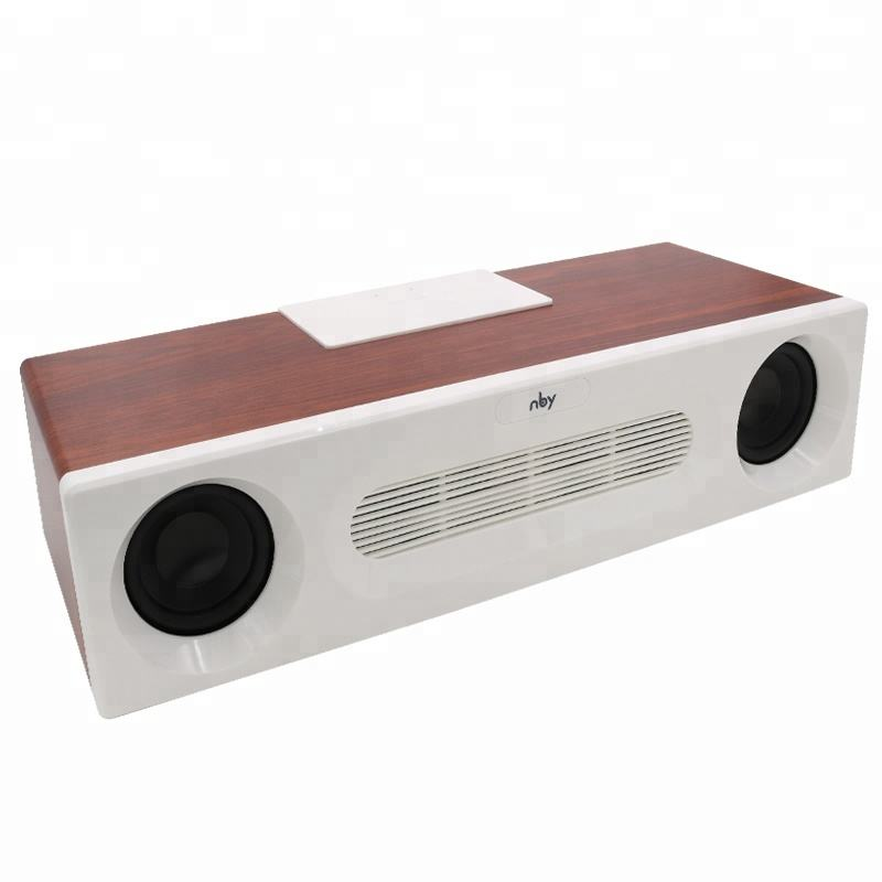 Didukung Parlantes Enceinte Bocinas Bluetooth Speaker Subwoofer Bass Kayu Keras Multifungsi Digital Mp3 Radio Speaker