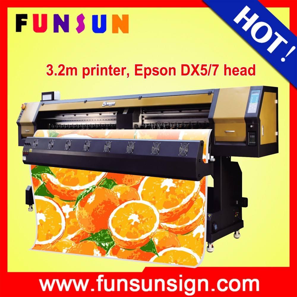 funsunjet FS-3202G 3.2 متر 10ft maintop/فوتوغرافية برامج rip dx5 رأس الطابعة مع اثنين 1440 ديسيبل متوحد الخواص ل راية ملصق