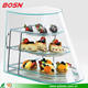 High quality 3 tiers bakery display cases plexiglass box display cabinet equipment for sale