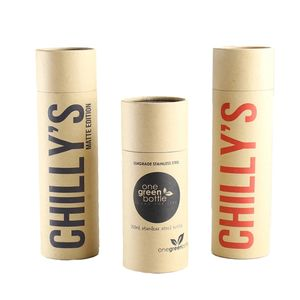 Custom Round Sealing Lip Balm Paper Tube Box Food Grade Deodorant Luxury Kraft Tea Paper Tube Packaging For Cosmetic