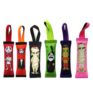 Halloween Hard Core Handles Squeak Fetch Fire Hose Pet Dog Tug Toy