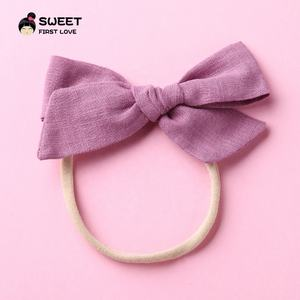 Wholesale Good Quality Lovely Baby Girls Headbands Hair Bows Elastic Bands