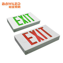 BAIYI High quality  UL CE wall mounted led emergency exit sign