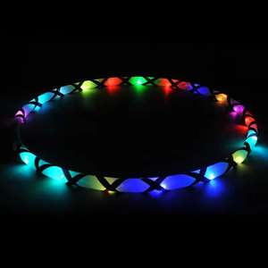 80cm led electric flashing glowing hula hoops in the dark