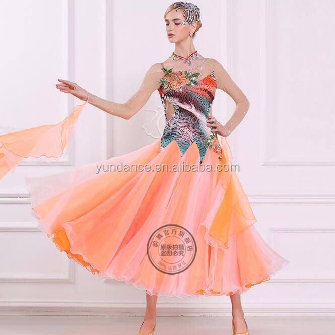 new fashion ladies ballroom professional dance dresses B-16234