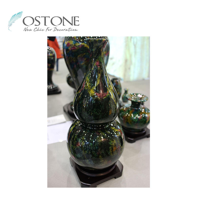 Stone Carving Gourd Shaped Seven-Colour Onyx Finished Hand Craft Products