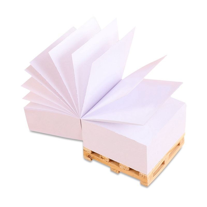 Custom Paper Block Memo Notes Pad Cube with Wooden Pallet Stand