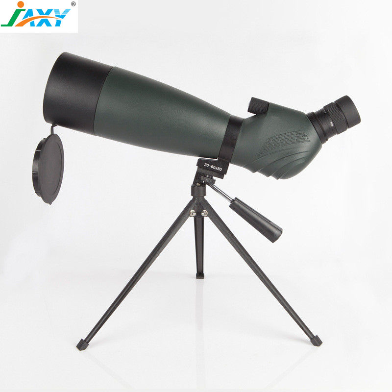 Jaxy 20-60X80 waterdichte Hoek Zoom Spotting Scope, lange power BAK4 mocular, beginner niveau astronomische telescoop