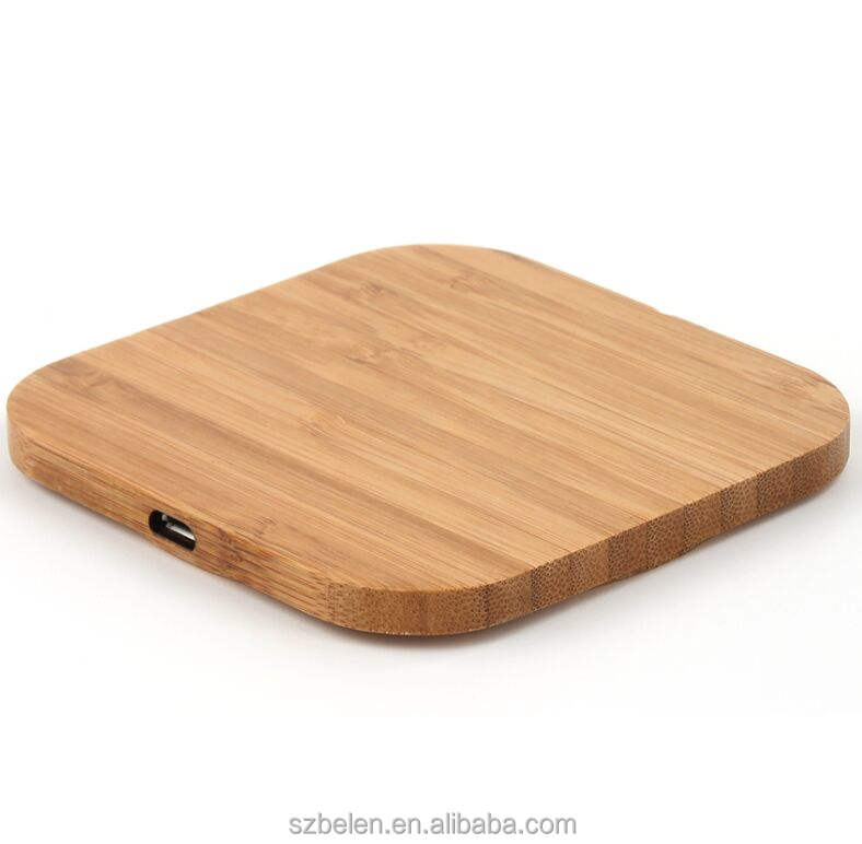 Wireless Phone Charging Station Wood Bamboo Wireless Charger Qi Portable Charger For Iphone