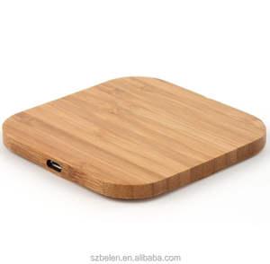 Wireless Phone Charging Station Wood Bamboo Wireless Charger Qi Portable Charger For Iphone