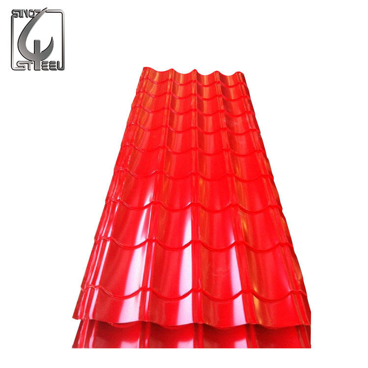PPGI / PPGL Prepainta Roof Color Coated Galvanized Corrugated Metal Roofing Sheet Color Steel Plate