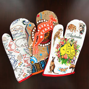 High quality cotton printed kitchen set including oven gloves pot holder and towel