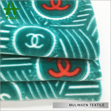 Mulinsen Textile Good Quality Brand Logo Print Super Soft Fleece Fabric