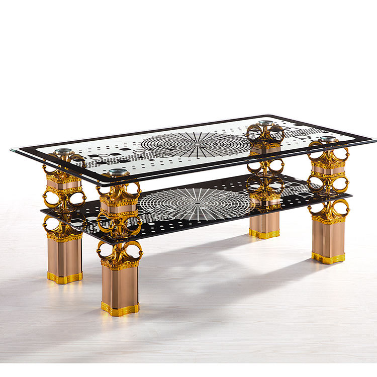 Beautiful modern hot bent stainless steel coffee table with coffee table design