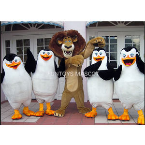 Funtoys CE 4 penguins lion alex maskottchen kostüm phantasie kleid custom phantasie cosplay mascotte