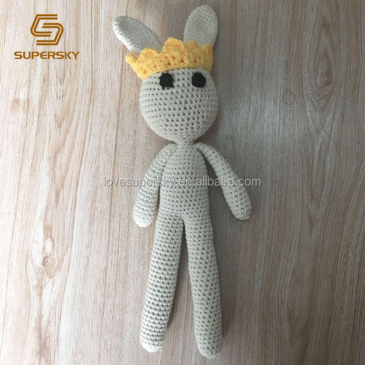 G17 Rabbit toy Crochet Knitted toys Crochet animals with crown