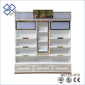 New design cosmetic showcase in boutique display make up stand furniture