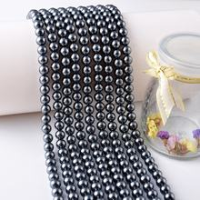 Manufacturers Supply Fashion Multicolor Round Shape Glass Pearl Accessories Loose Beads