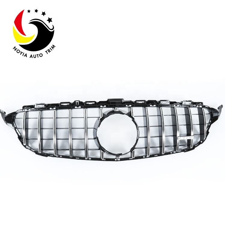 GTR Style Grille for Mercedes Benz WW205 Silver/Black front grill for benz w205 C CLASS 2015-2018