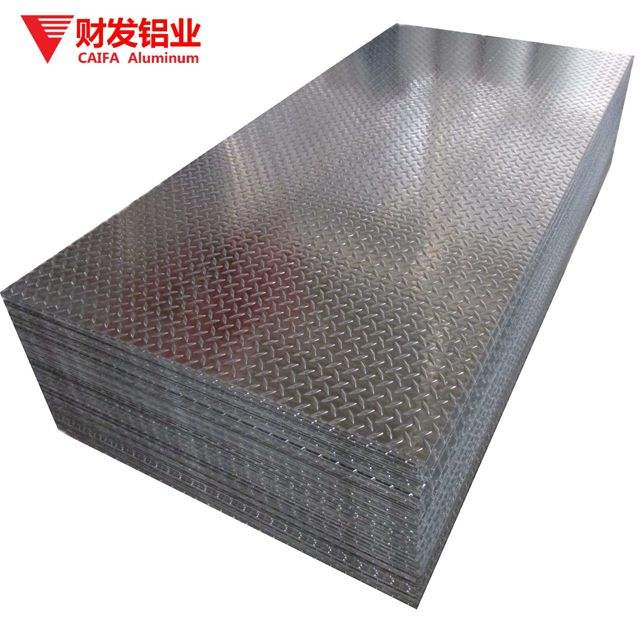 1050 10mm Thickness Tread Embossed Printing Aluminum Sheet Plate