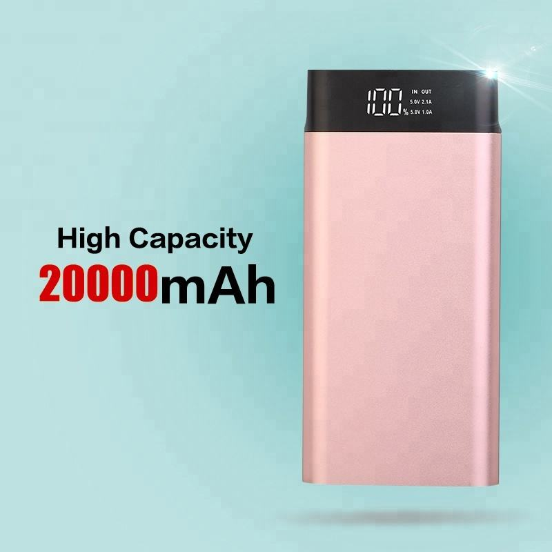 Shenzhen bank daya ultra tipis slim senter powerbank 20000 mAh casing USB phone charger murah untuk samsung galaxy s4 tab s2