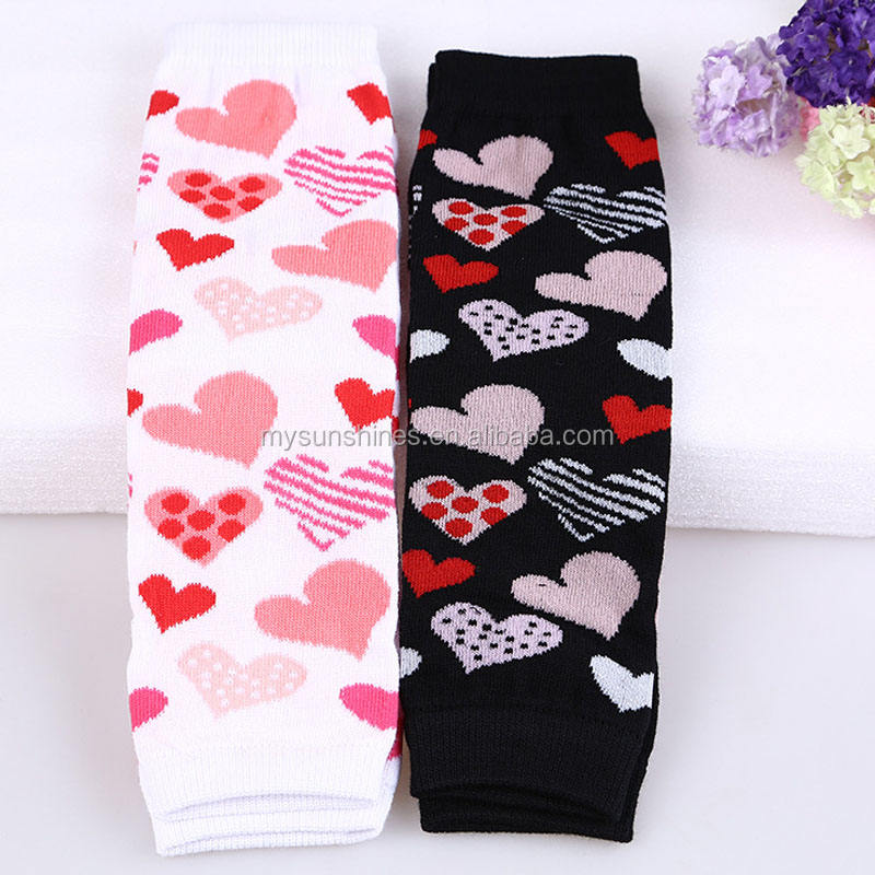 Fashion Valentine Baby Leg warmer Pink Black Toddle Leg warmers Heart Printed Infant Leg warmer For Baby Girls Boys