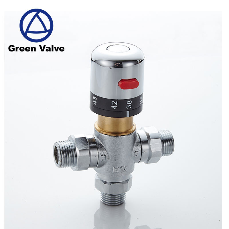 Gutentop DN15 Brass Water Temperature Control Valve Thermostatic Mixing Valve